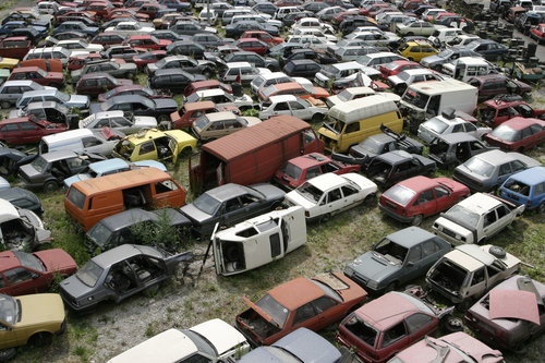 Cars that belong to the scrapyard
